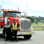 "Ruggles operators Matt and AJ want to remind motorists to ""move over and slow down"" in their work place"
