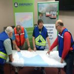 Volunteer during an emergency with JEM
