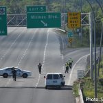 Halifax Regional Police responded to a report of gun shots fired from a small black car at black SUV, on Highway 111