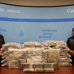 CBSA Atlantic Region, announced the seizure of 270 kg of suspected cocaine onboard a vessel attempting to dock at a yacht club in Halifax