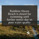 (Update) Rainbow Haven Beach closed to swimming