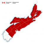 (Ended) Environment Canada has issued a heat warning for parts of the province