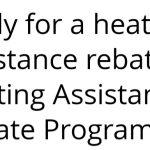 Heating Assistance Rebate Program Opens