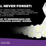 Today we honour the 14 women murdered during the Montreal Massacre at l'École Polytechnique