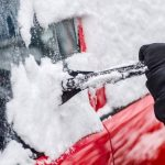 Please remember to clean snow and ice from your vehicle, but be sure it's insured and registered first.