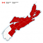 ENDED: Rainfall warning in effect via Environment Canada