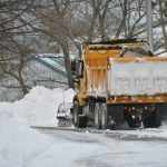 Overnight snow removal on Quinpool Road