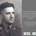Edward Francis Arab Honoured on Heritage Day