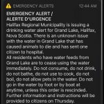 (Update) HRM issues water alert for the Grand Lake area