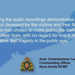 RCMP – Statement from the Commanding Officer