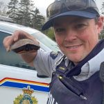Why did the turtle cross the road? We don't know but he made it safely to the other side thanks to a member with Yarmouth Municipal RCMP